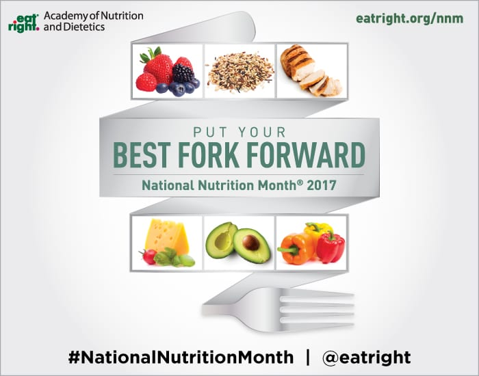 Image showing the National Nutrition Month 2017 Best Fork Forward theme