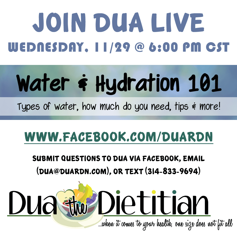 Flyer for Water & Hydration Webinar